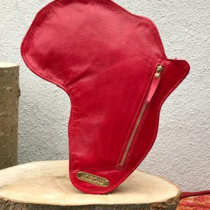 Shape Of Africa Map Red Leather Bag/Backpack